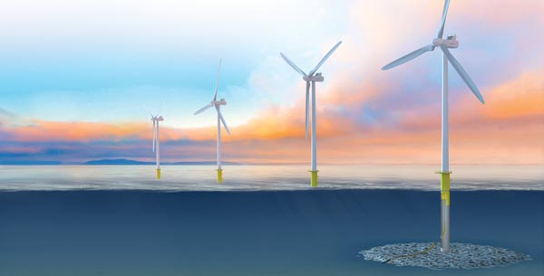 Fixed offshore wind turbine solutions