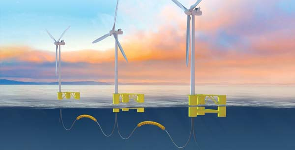 Floating offshore wind turbine solutions